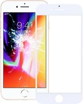 Voorzijde buitenste glazen lens voor iPhone 8 (wit)