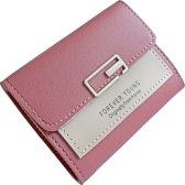 ZILOU Portemonnee - Compact - Mini Wallet - Elegant - Dames - Kunstleer - Roze