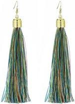 Fako Bijoux® - Oorbellen - Kwast XL - Ibiza - Multicolour