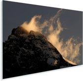 Großglockner bergtop bij zonsopkomst in Oostenrijk Plexiglas 180x120 cm - Foto print op Glas (Plexiglas wanddecoratie) XXL / Groot formaat!