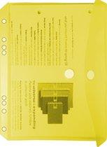 EXXO-HFP #35053 - A5 Ringband Documententas - Geel - 120 stuks (12 pakken @ 10 stuks)