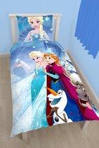 Disney Frozen - Dekbedovertrek - Eenpersoons - 140 x 200 cm - Blauw