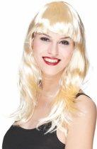 Lange blonde pruik voor dames - Verkleedpruik