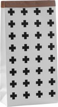 Grote Paper Bag Wit met Kruisjes   Papieren Opbergzak Kinderkamer