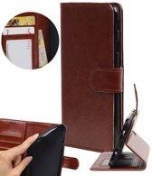 | Huawei P8 Lite Portemonnee hoesje booktype wallet case Bruin | WN™