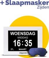 Dapoda Products® Digitale Dementieklok / Kalenderklok voor dementie + Alarmfunctie   Alzheimerklok   Medicijnwekker    – Wit