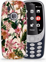 Nokia 3310 (2017) Uniek TPU Hoesje Flowers