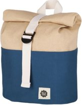 Rolltop Backpack - Navy / Beige