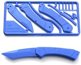 Klecker Knives Trigger Knife Kit, Blue Zakmes - Blauw