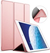 iPad Air 10.5 (2019) Hoes - Smart Book Case Siliconen Hoesje - iCall - Roségoud