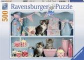 Ravensburger Katje tussen de cupcakes - Puzzel van 500 stukjes
