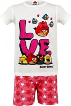 Angry Birds korte pyjama kinderen wit 104-110