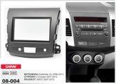 2-DIN PEUGEOT (4007) 2007-2012 / MITSUBISHI Outlander XL 2006-2012 / CITROEN C-Crosser 2007-2012 inbouwpaneel Audiovolt 08-004