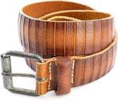 Kidzzbelts Jongens Jeans kinderriem 1804 - Cognac - 65 cm