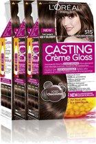 L'Oréal Paris Casting Crème Gloss 515- Licht Kastanjebruin - Haarverf