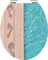 SCHÜTTE WC-Bril 80539 POOLSIDE - High Gloss - MDF-Hout - Soft Close - Verchroomde Scharnieren - Decor - 1-zijdige Print