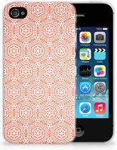 Apple iPhone 4 | 4s Uniek TPU Hoesje Pattern Orange
