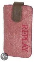 Replay tasje - jeans - roze - maat 17