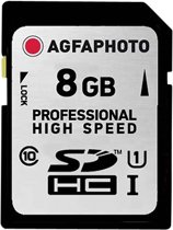 AgfaPhoto SDHC kaart UHS I 8GB Professional High Speed 90/45