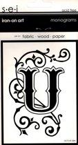 Strijksjabloon Monograms Letter U