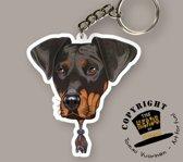 Sleutelhanger Hond Dobermann
