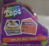 Funtape World's best friend - afzetlint vriend - 25m