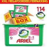 Ariel Sensation Pink Pods 114 pods | Geschikt voor iedere was | 114 capsules | Kwartaalpakket | XXL voordeelverpakking | Megabox | Ariel Wasmiddel | Frisse geur | Uitstekend resultaat