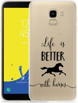 Galaxy J6 Hoesje Life is Better with Horses