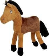 HKM Knuffelpaard -Funny Horses-, ca. 20cm bruin