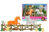 Toi-toys Speelset Kailey's Paardenstal 4-delig Bruin/wit