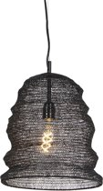 QAZQA nidum - Hanglamp - 1 lichts - Ø 300 mm - Zwart