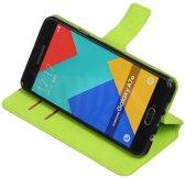 Groen Samsung Galaxy A7 2016 TPU wallet case booktype hoesje HM Book