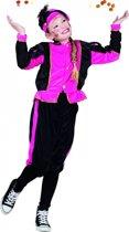 Fuchsia Pieten kostuum voor meisjes 10-12 jaar - Pietenpak kind