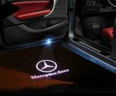 Mercedes LED deurlogo projector vervanger van bestaande armatuur