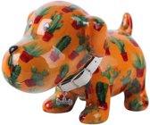 Pomme Pidou spaarpot hond Bruno - Uitvoering - Oranje met cactussen