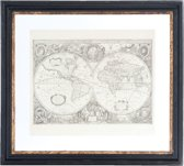 Schilderij wereld 55*4*50 cm Zwart | 50234 | Clayre & Eef