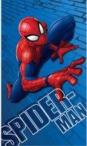 Spider-Man Wall - Strandlaken - 70 x 120 cm - Blauw