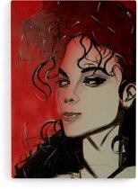 """MICHAEL JACKSON"""" Canvas Print van JM ART (60 x 90 cm)"""
