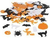 Pailletten, afm 10-20 mm, wit, oranje, zwart, Halloween, 250gr