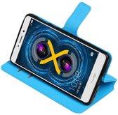 Honor 6 X Blauw   Cross Pattern TPU bookstyle / book case/ wallet case    WN™