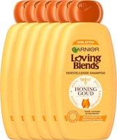 Garnier Loving Blends Honing Goud Shampoo - Beschadigd of Breekbaar Haar - 6 x 300 ml - Voordeelverpakking
