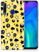 Honor 20 Lite Silicone Back Case Punk Yellow