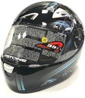 Astone Helm GTO Graphic Smoke Scooter maat XS ECE Gekwalificeerd