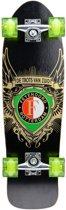 Skateboard met aan de clubkleuren en logo van Feyenoord