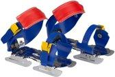 Nijdam Junior Glij-ijzers Verstelbaar - Uni - Kobalt/Geel/Rood