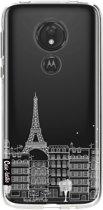 Casetastic Softcover Motorola Moto G7 Power - Paris City houses White