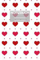 Notizbuch A5 Muster Herzen Herz Rote: - 111 Seiten - EXTRA Kalender 2020 - Einzigartig - Liniert - Linie - Linien - Geschenk - Geschenkidee