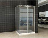 Douchecabine Vegas Rechthoek Schuifdeur 90x120x200cm Antikalk Helder Glas Chroom Profiel 8mm Veiligheidsglas Easy Clean