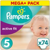 Pampers Active Fit - Luiers Maat 5 74 st