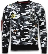 Local Fanatic Exclusief Camo Embroidery - Sweater Patches - Zwart - Maten: M